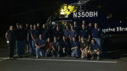 WPFD Helicopter Landing Zone Training with Baptist MedFlight