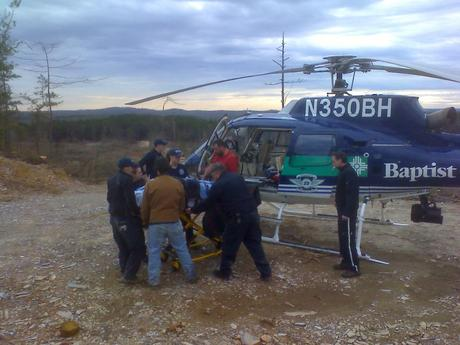 WPFD Rescue @ Wildland Medical Extraction