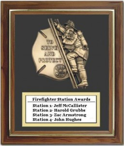 zStation Firefighers of the year 2009